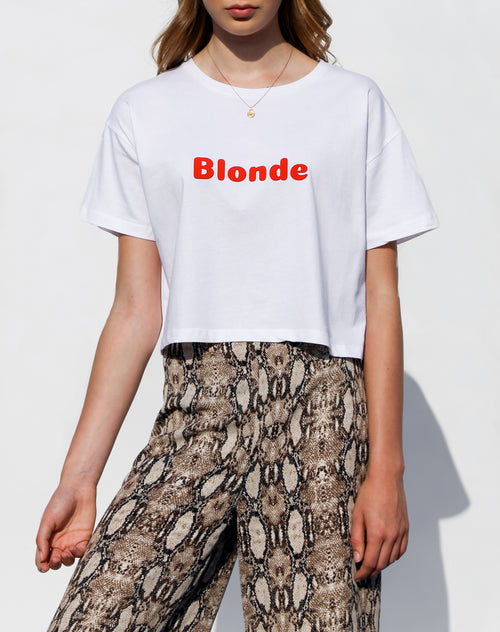 "The ""BLONDE"" Cropped Tee 