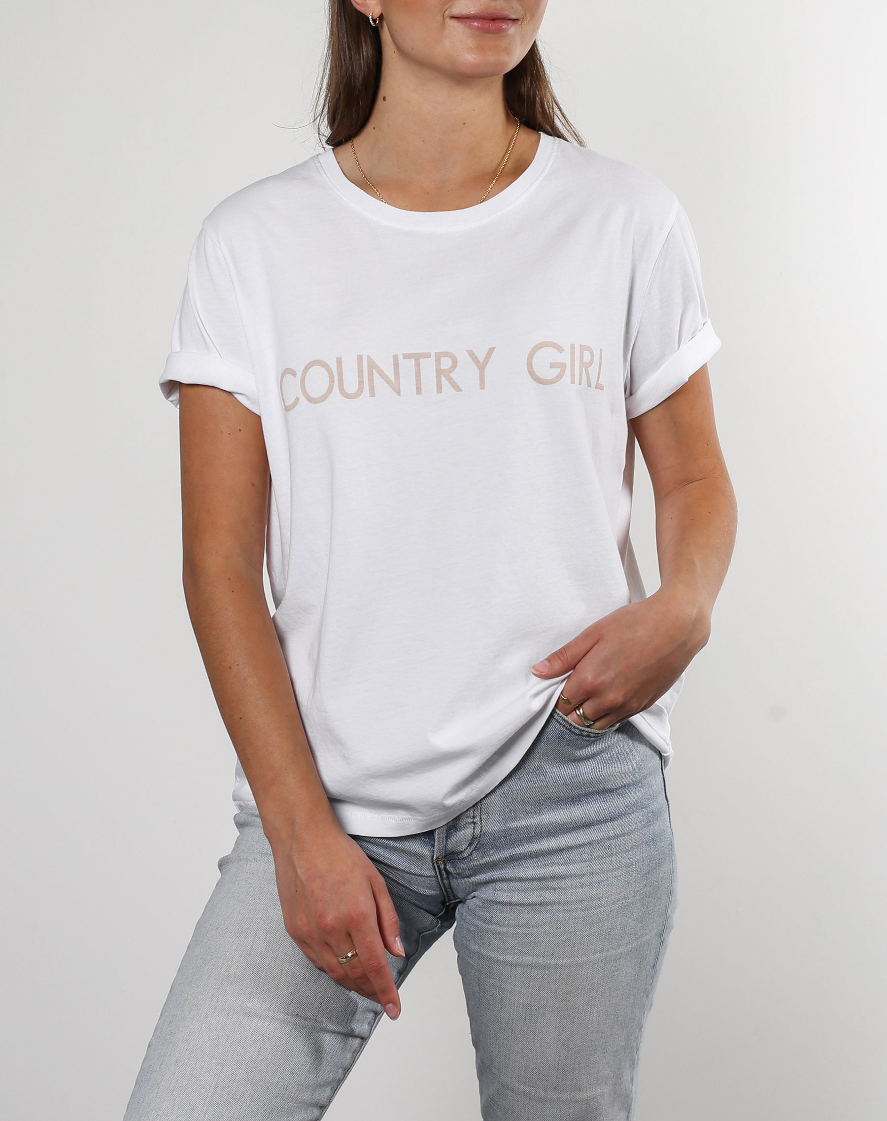 "The ""COUNTRY GIRL"" Classic Crew Neck Tee 