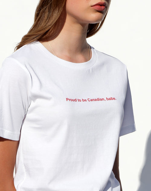 "The ""PROUD"" Crew Neck Tee 