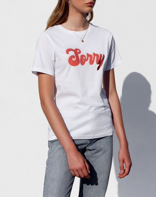 "The ""SORRY"" Crew Neck Tee 