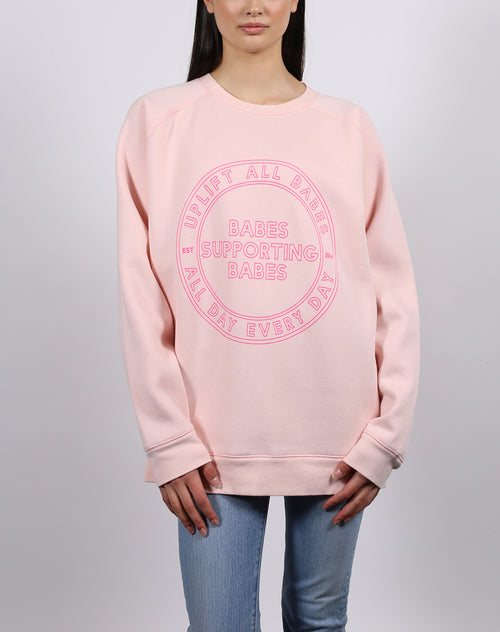 "The ""UPLIFT ALL BABES"" Big Sister Crew Neck Sweatshirt 