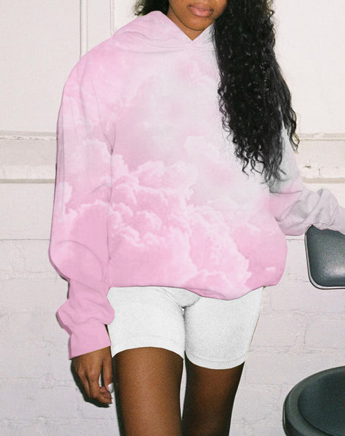 Photo of the Petal Pink Tie Dye Hoodie by Brunette The Label