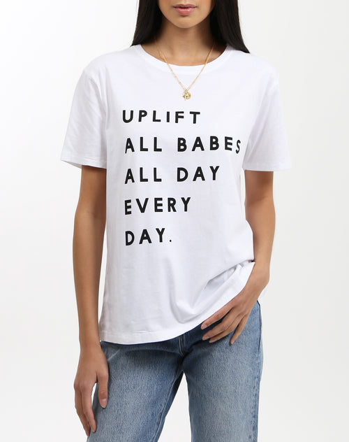 "The ""UPLIFT ALL BABES"" Crew Neck Tee  