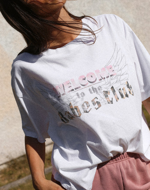 "The ""WELCOME TO THE BABES CLUB"" Boxy Crew Neck Tee 