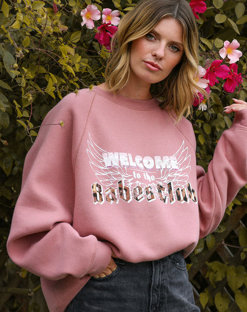"The ""WELCOME TO THE BABES CLUB"" Not Your Boyfriend's Crew Neck Sweatshirt 
