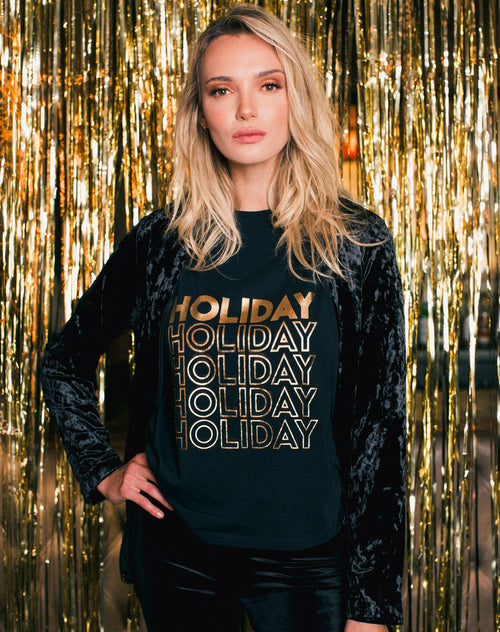 """HOLIDAY"" Foil Tee"