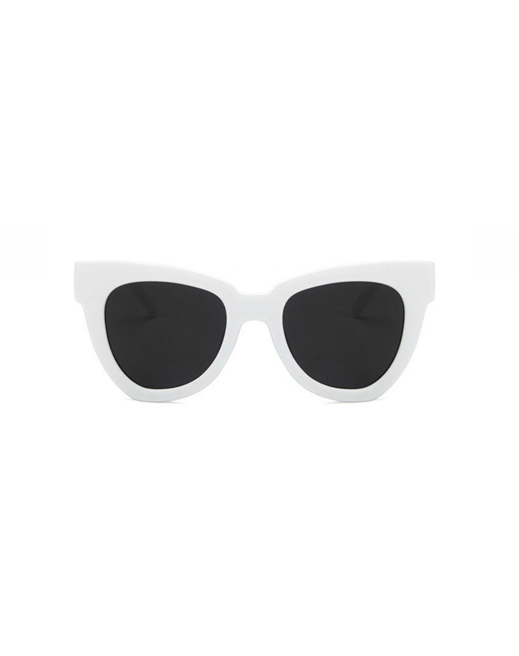 Photo of the Hayley sunglasses in white by Shady Lady Eyewear.