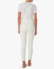 The HIGH RISE SKINNY Overalls in White | We Wore What