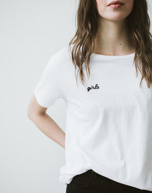 "The ""girls"" Chain Stitch Crew Neck Tee"