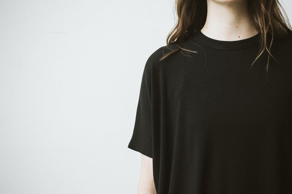 "The ""Emanuelle"" Tee in Black"