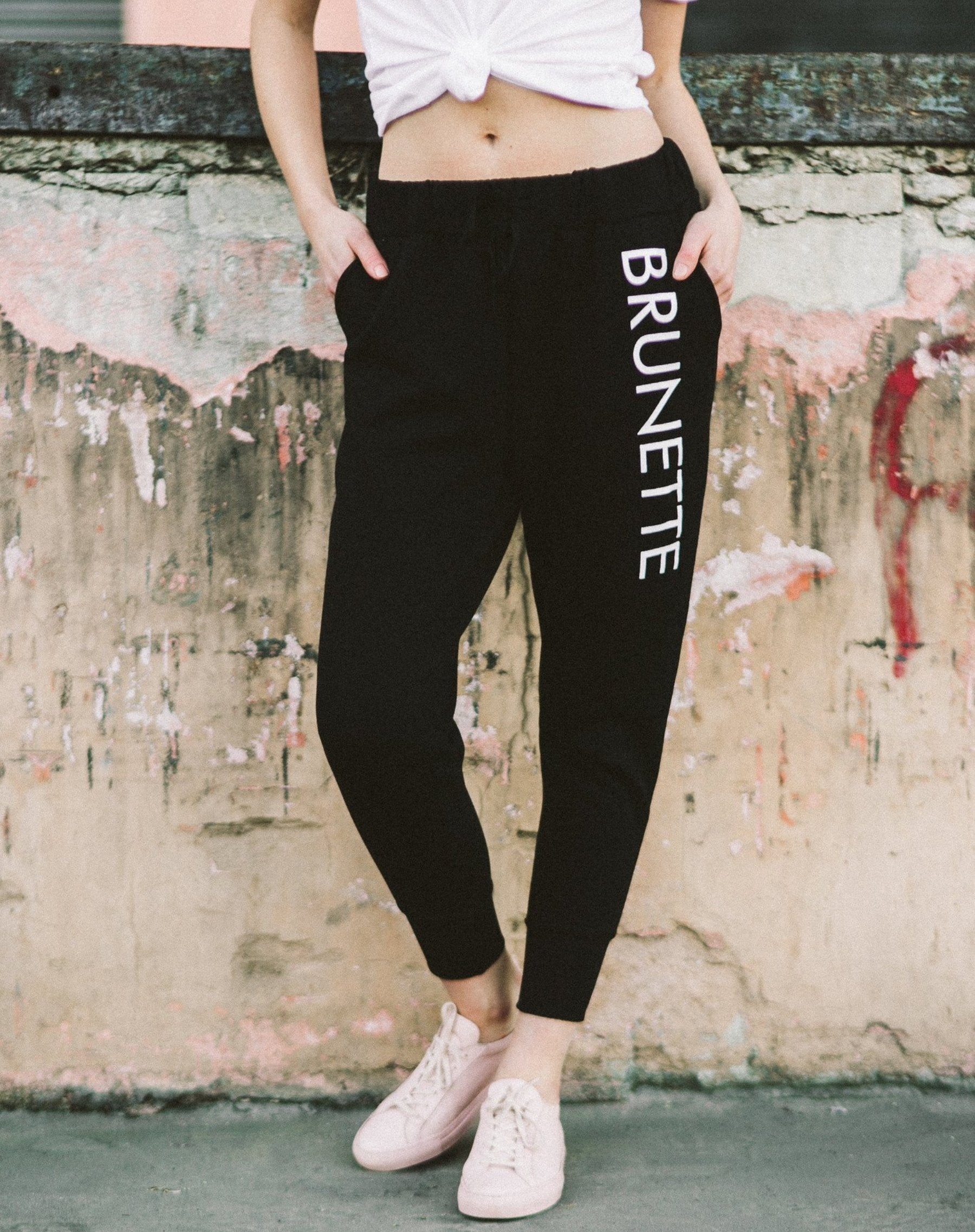 "The ""Brunette"" Printed Joggers"