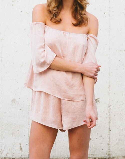 "The ""Alusha"" Playsuit in Nude"