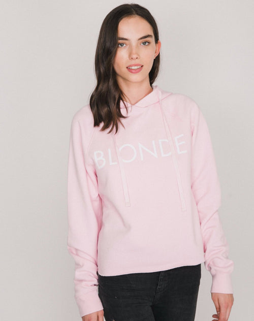 The BLONDE Raw Edge Hoodie | PRETTY PINK