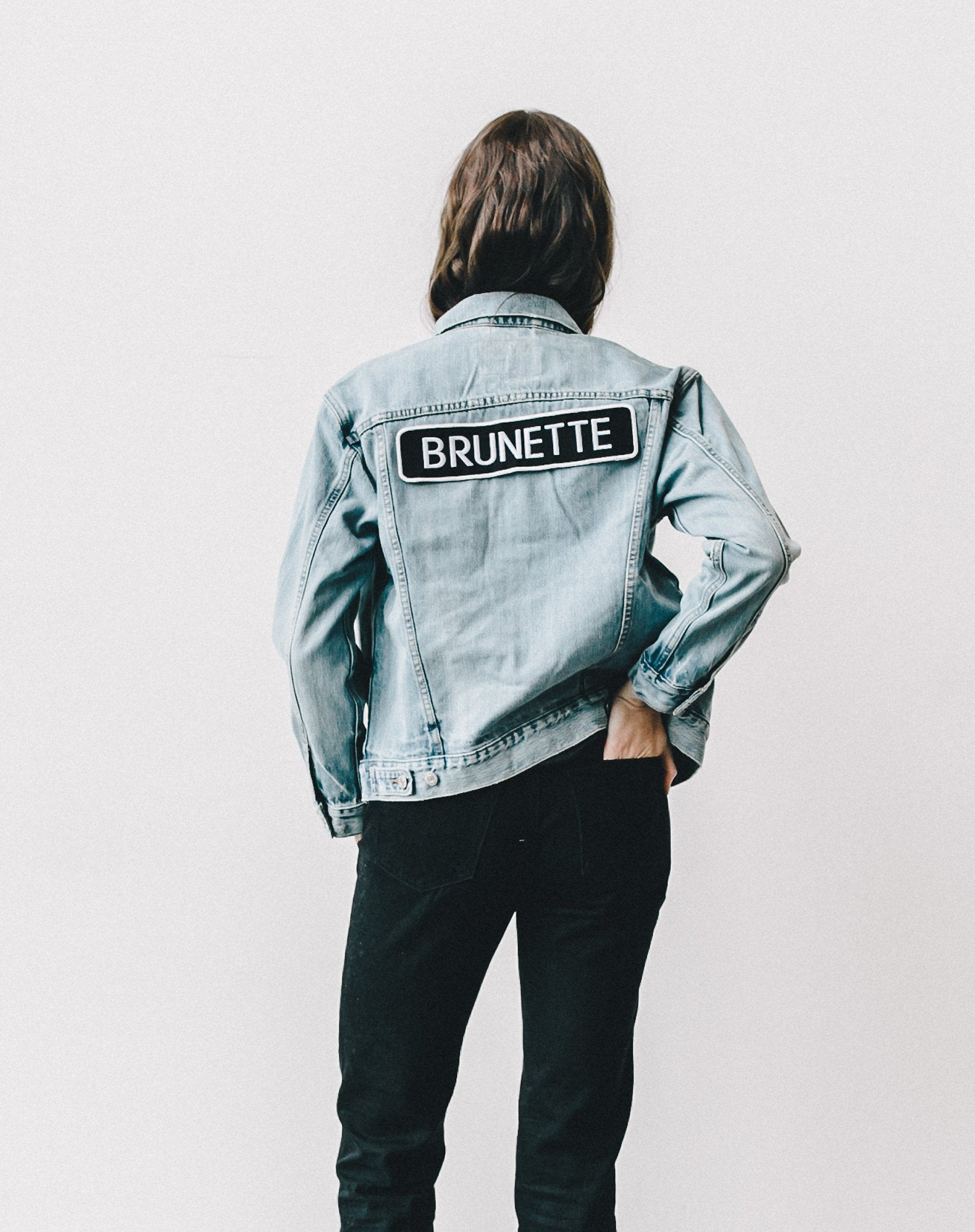 Photo of the Lindsay Brunette denim jacket by Brunette the Label.