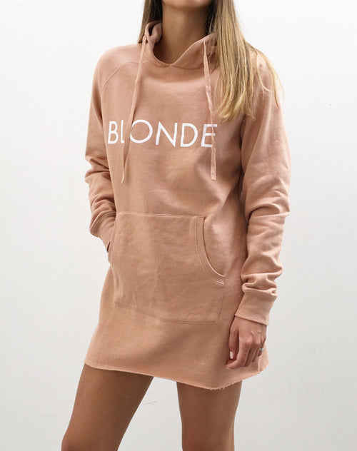 The Hoodie Dress - NUDE/BLONDE
