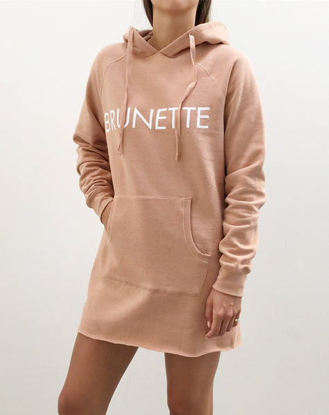 The Hoodie Dress - NUDE/BRUNETTE