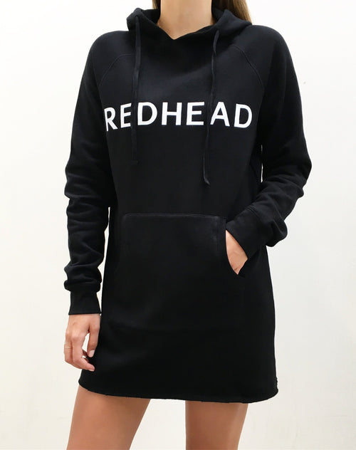 The Hoodie Dress - BLACK/REDHEAD