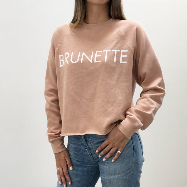 BRUNETTE crew neck sweatshirt in NUDE