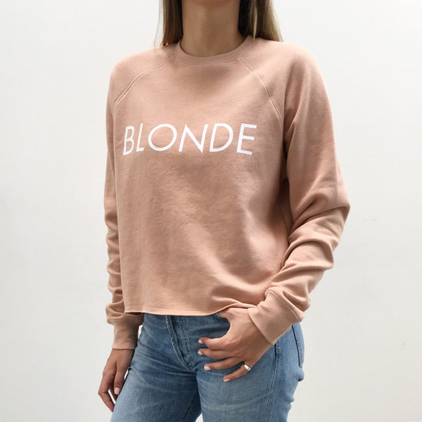 BLONDE crew neck sweatshirt in NUDE