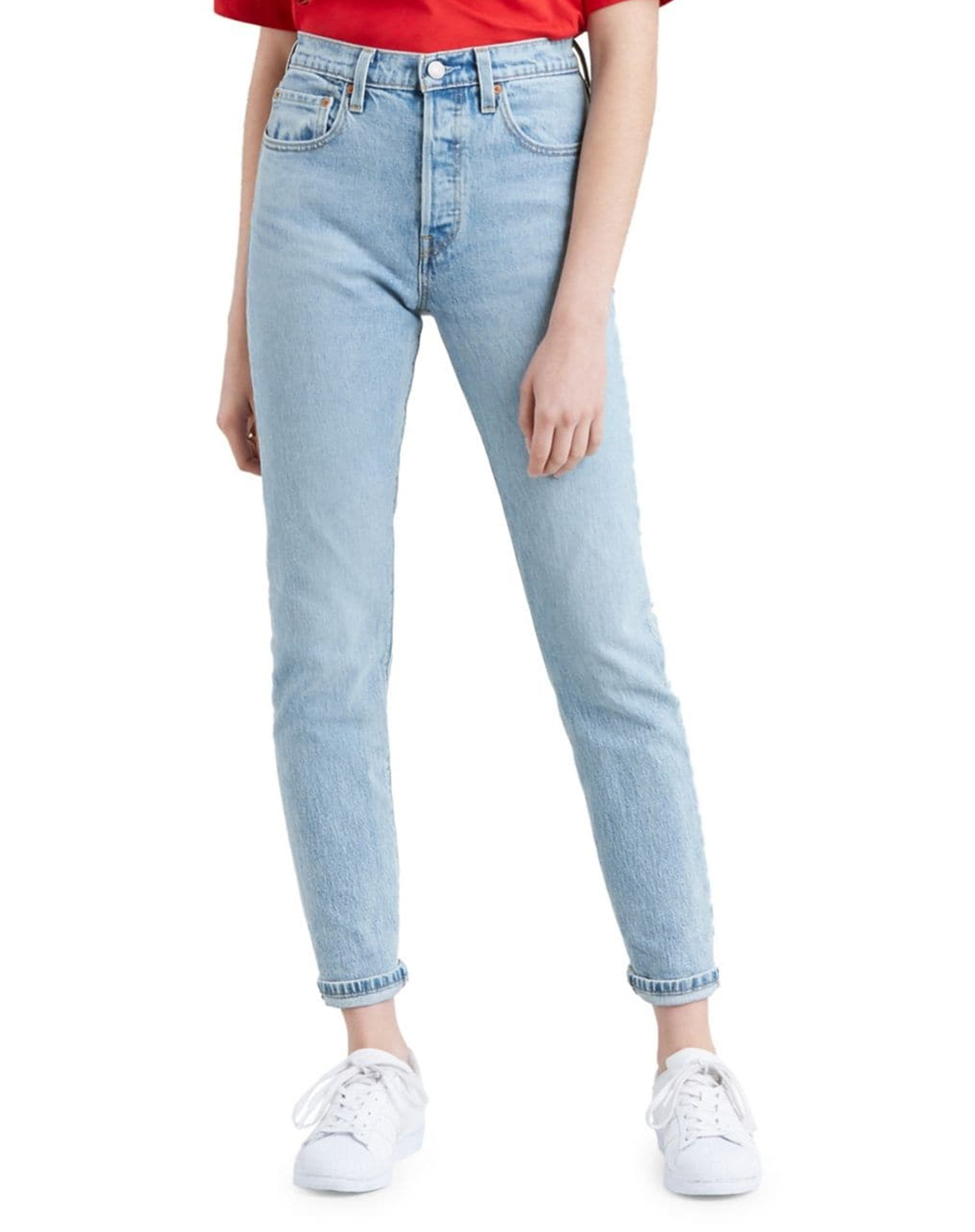 Photo of the Tango Light skinny jeans in light wash by Levi's.