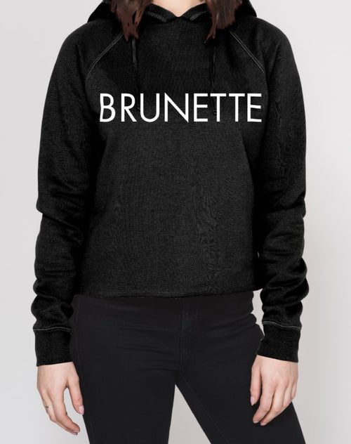 The BRUNETTE Raw Edge Hoodie | BLACK