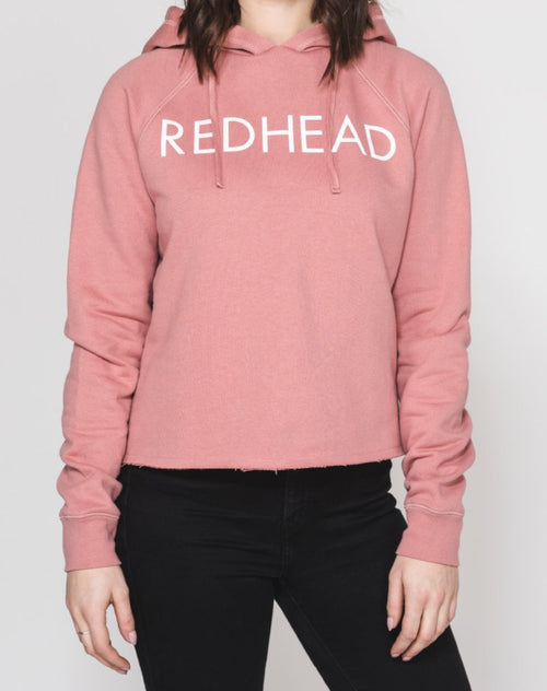 The REDHEAD Raw Edge Hoodie | DUSTY ROSE