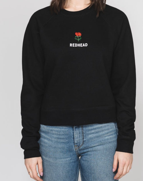 "The ""REDHEAD"" Rosie Embroidered Crew 