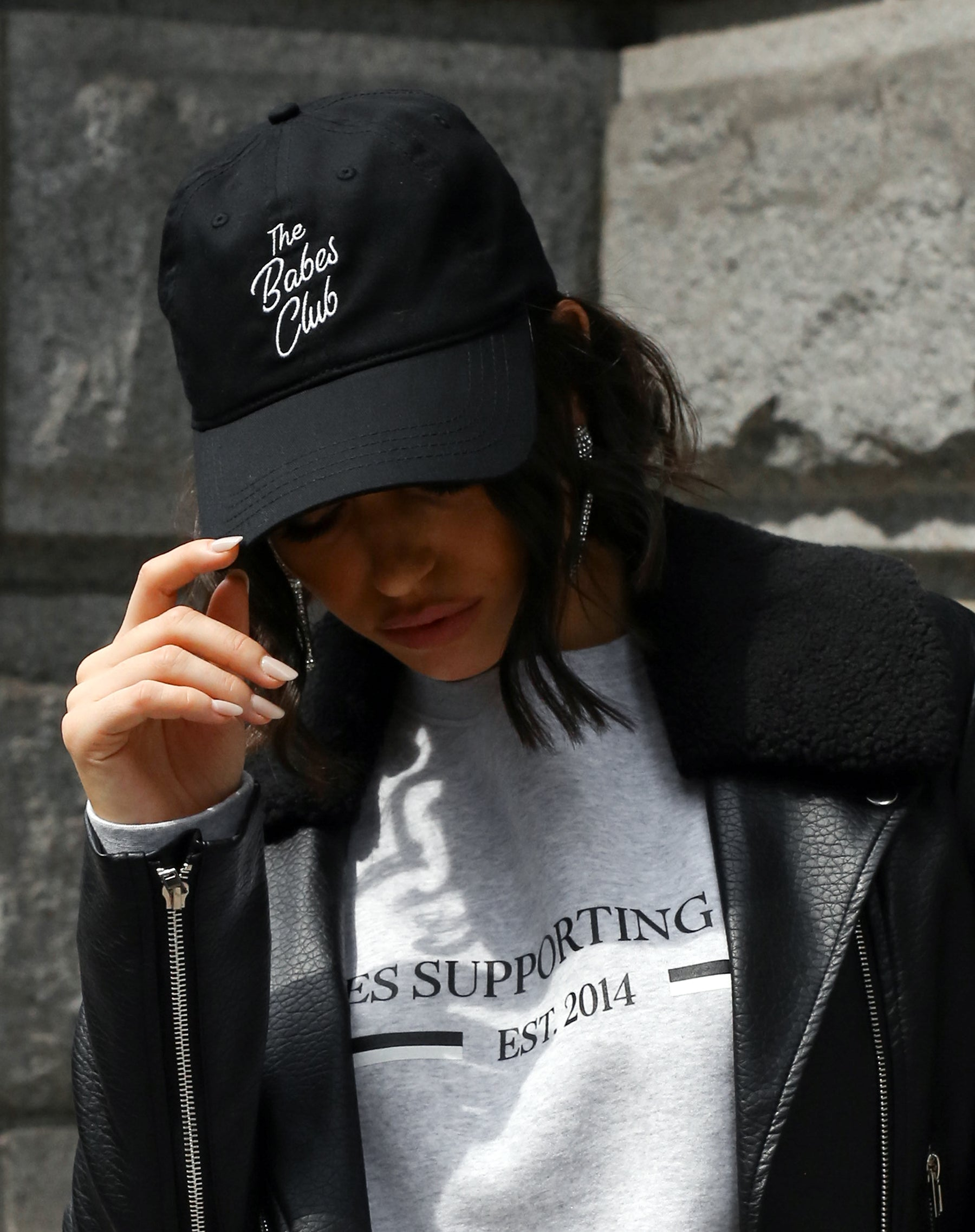 Photo of the Babes Club baseball cap in black by Brunette the Label.
