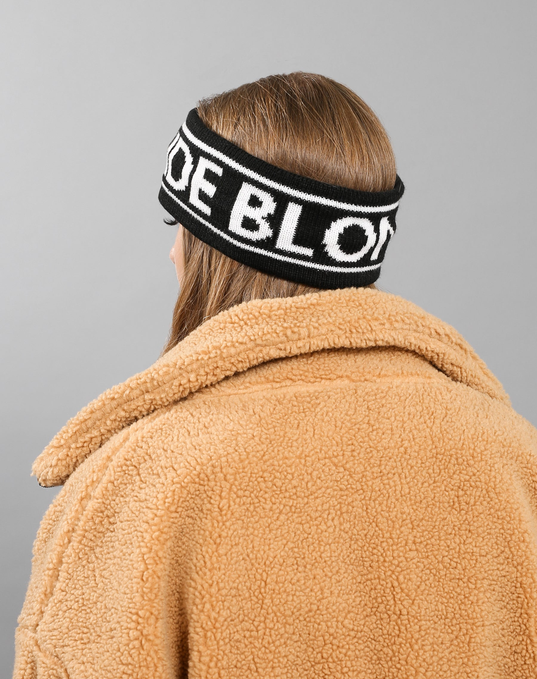 Back photo of the Blonde Headband in black by Brunette the Label.