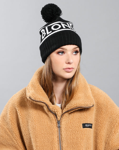 The Blonde toque in black by Brunette the Label.