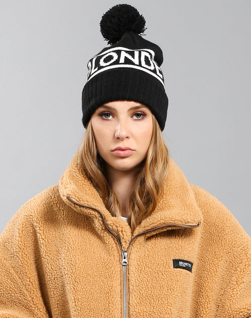 Photo 2 of the Blonde toque in black by Brunette the Label.