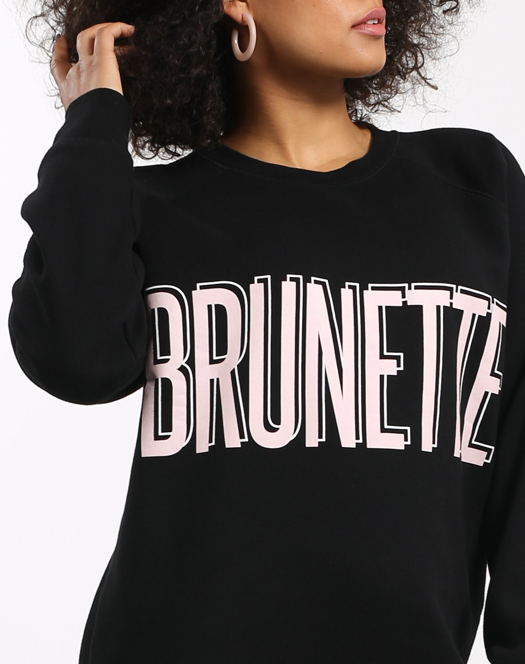 Photo 3 of the Brunette big sister crew neck sweatshirt in pink by Brunette the Label.