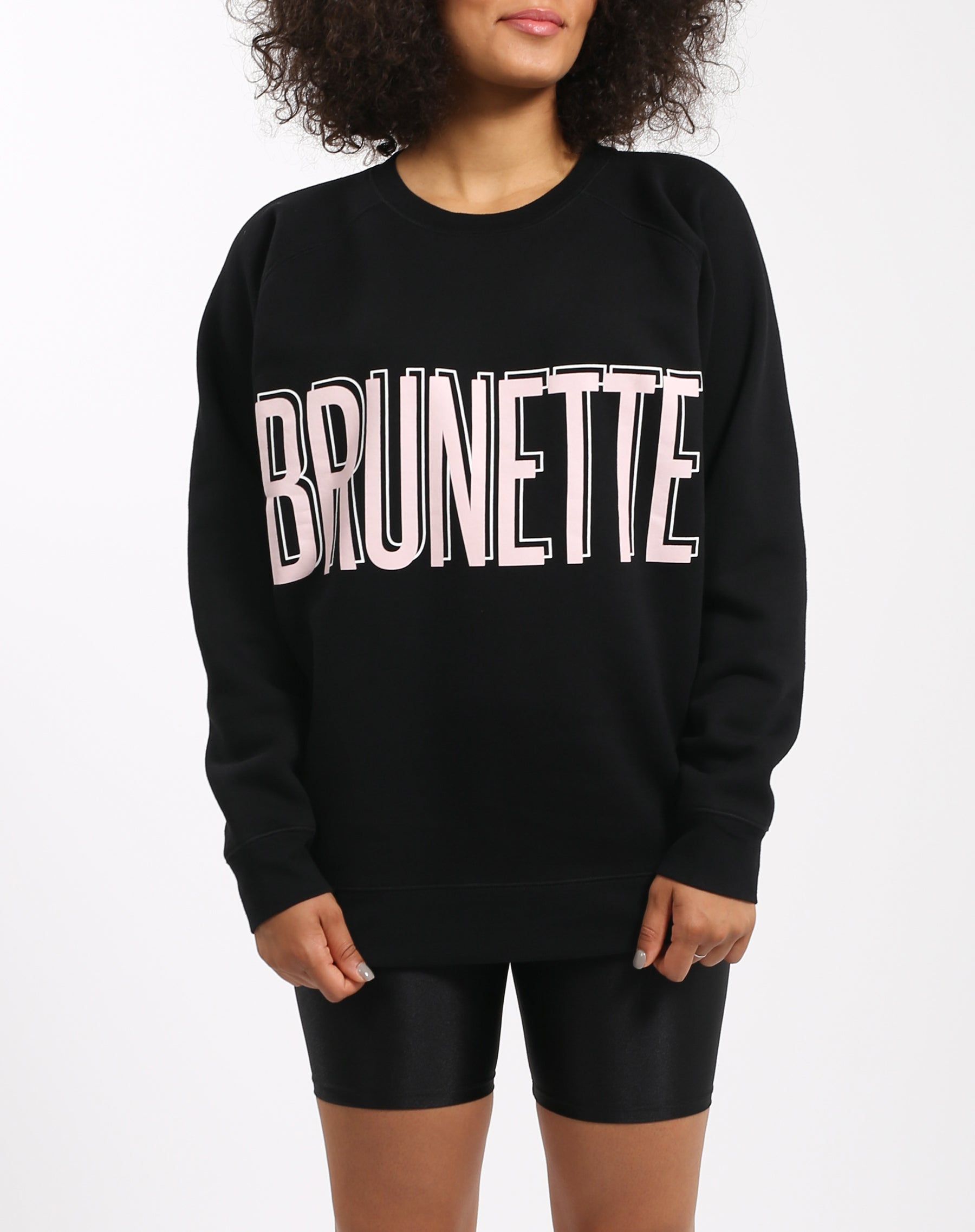 Photo 4 of the Brunette big sister crew neck sweatshirt in pink by Brunette the Label.