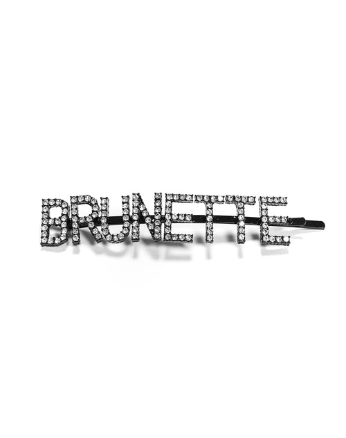 Close up photo of the Brunette Hair Clip in crystal by Brunette the Label.