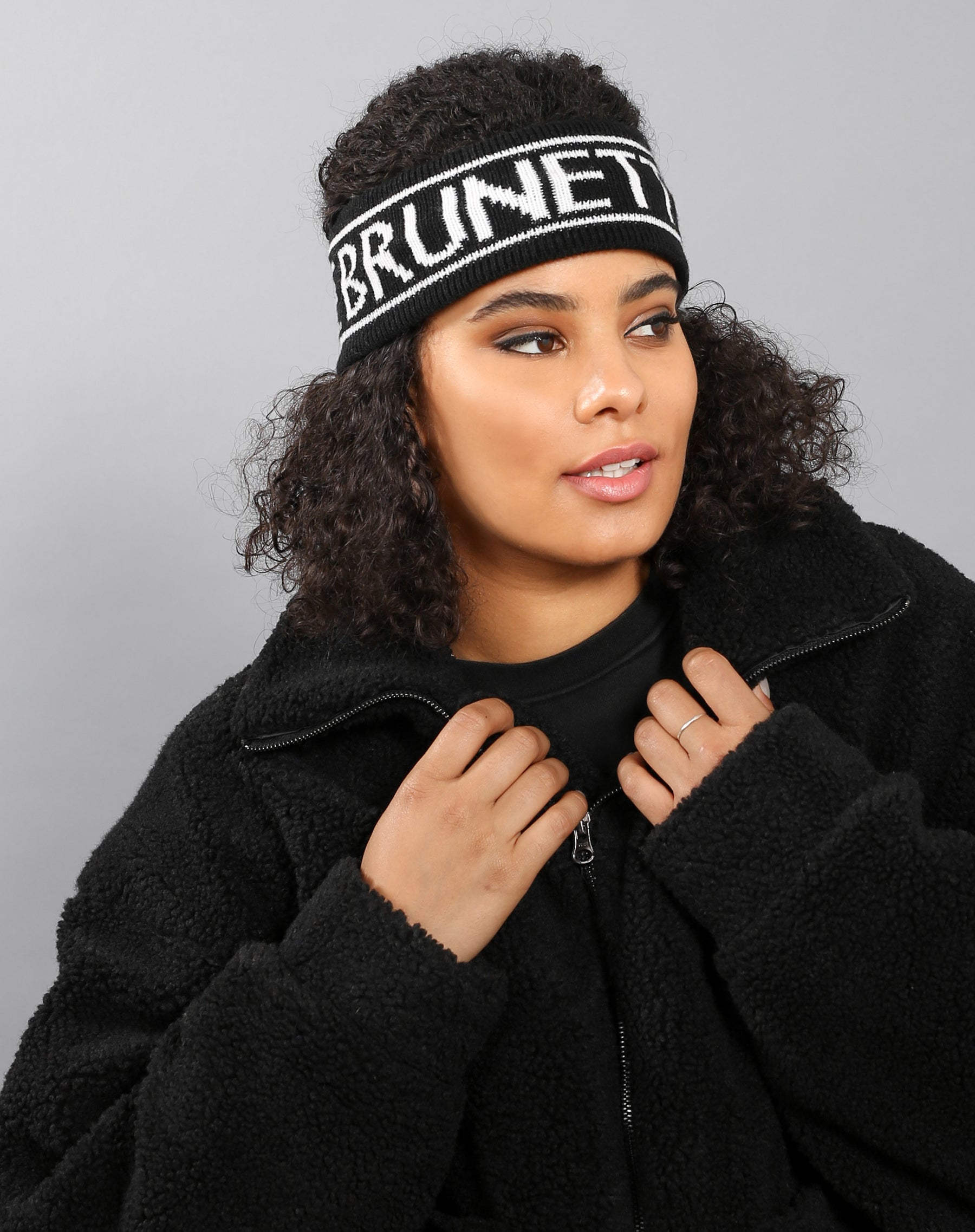 The Brunette headband in black by Brunette the Label.