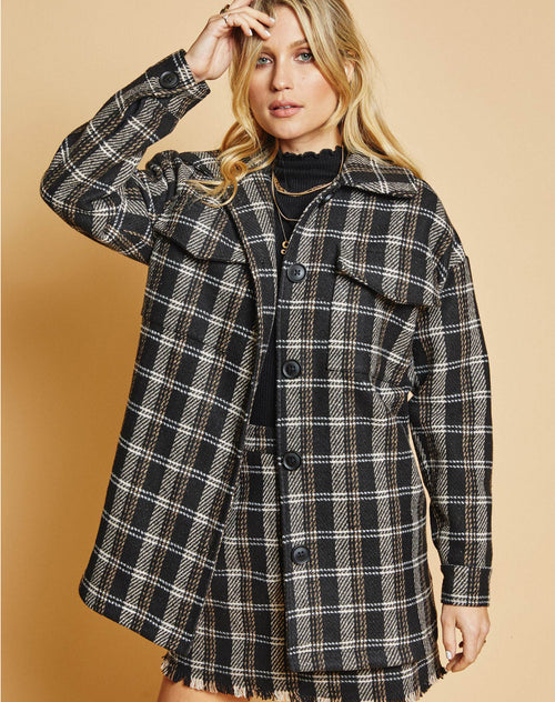 Photo of the French Duo jacket in plaid by Sage the Label.