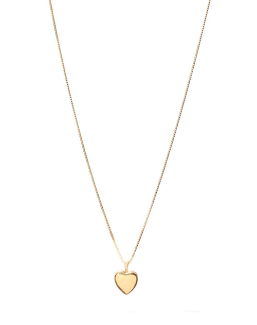 Image of the Heart Locket Box chain in gold by Lisbeth.