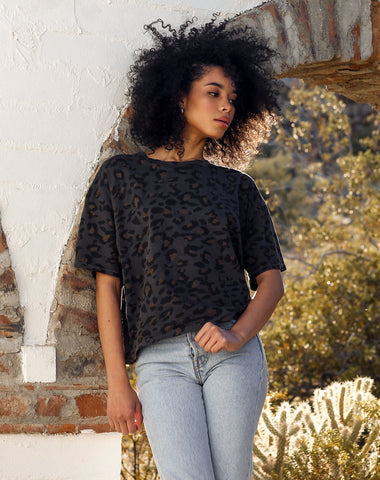 "The ""SLATE LEOPARD"" Tee Dress 