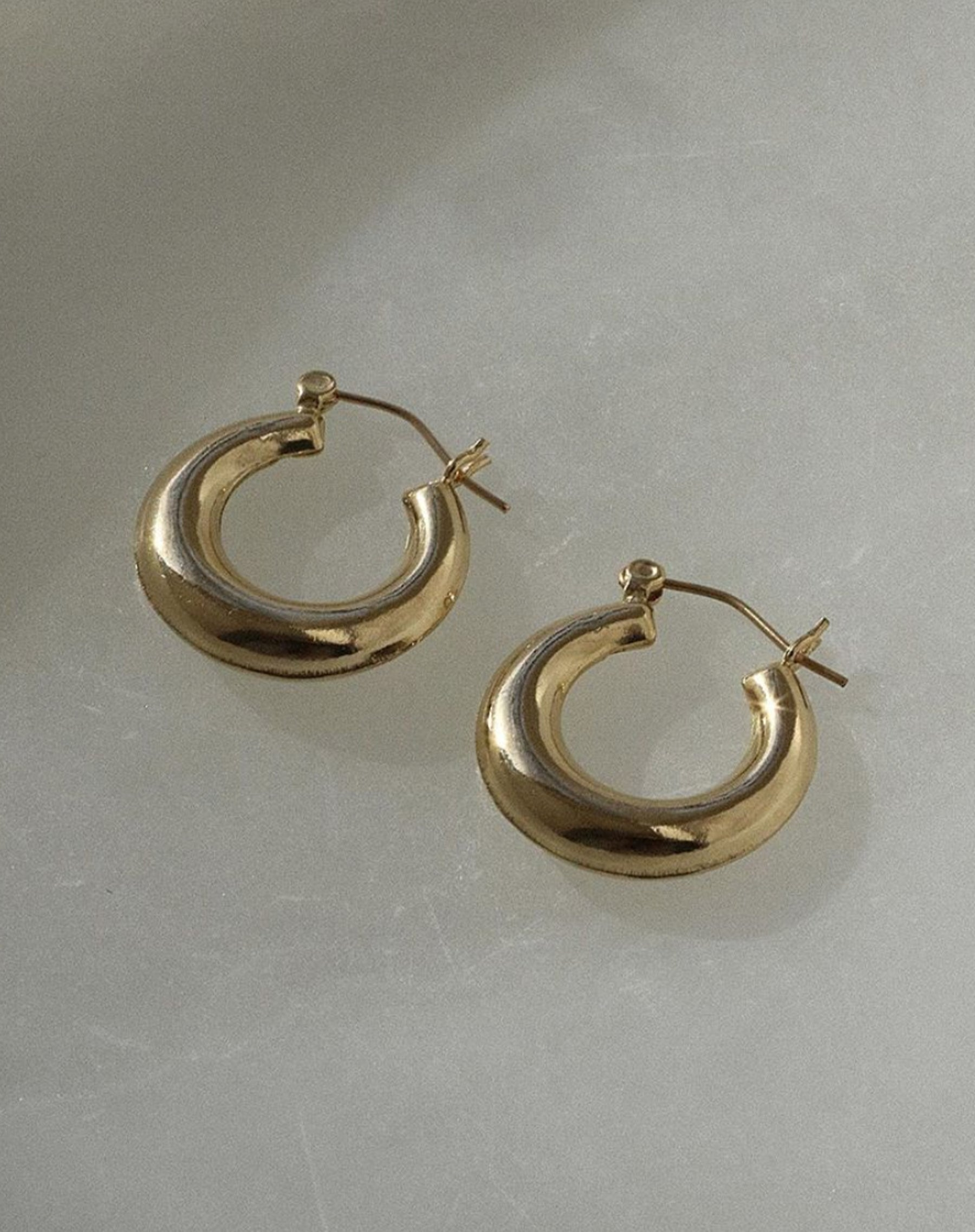 "The ""HAILEY"" Thick Round Hoops 