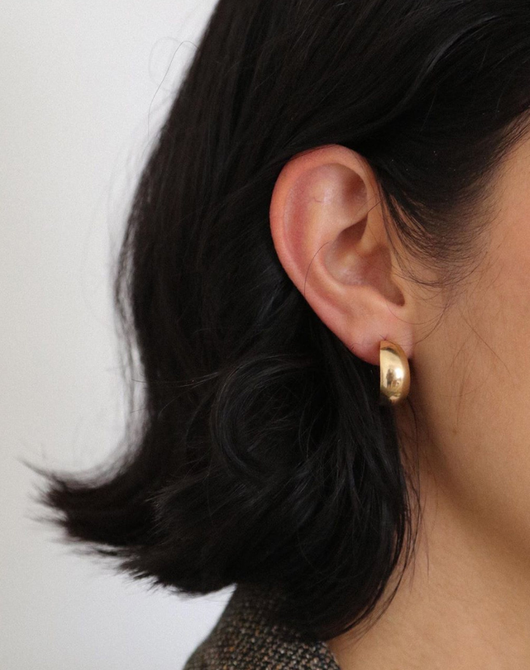 "The ""HANNAH"" Rounded Hoop Earrings 