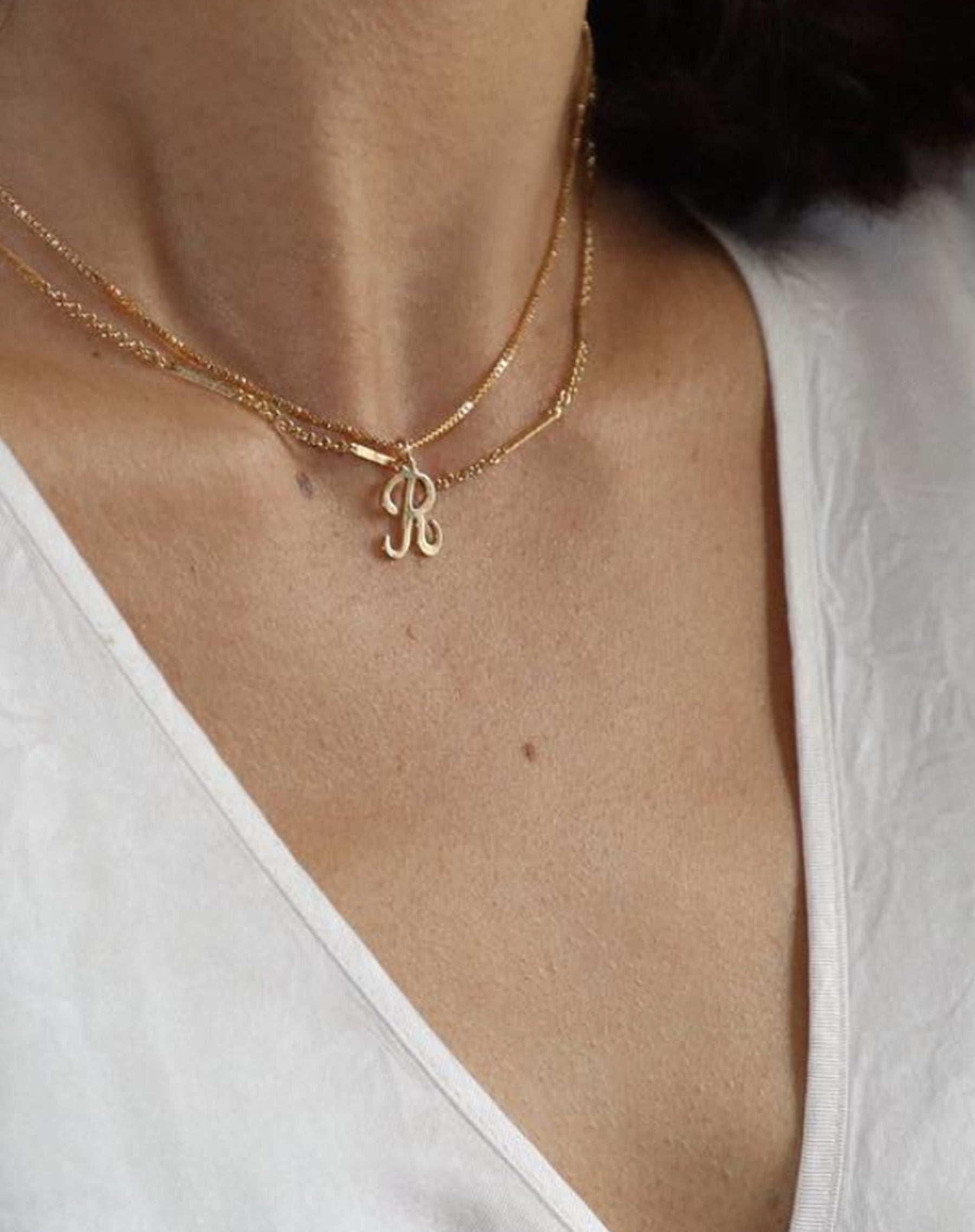 "The ""INITIAL"" Necklace Box Chain 