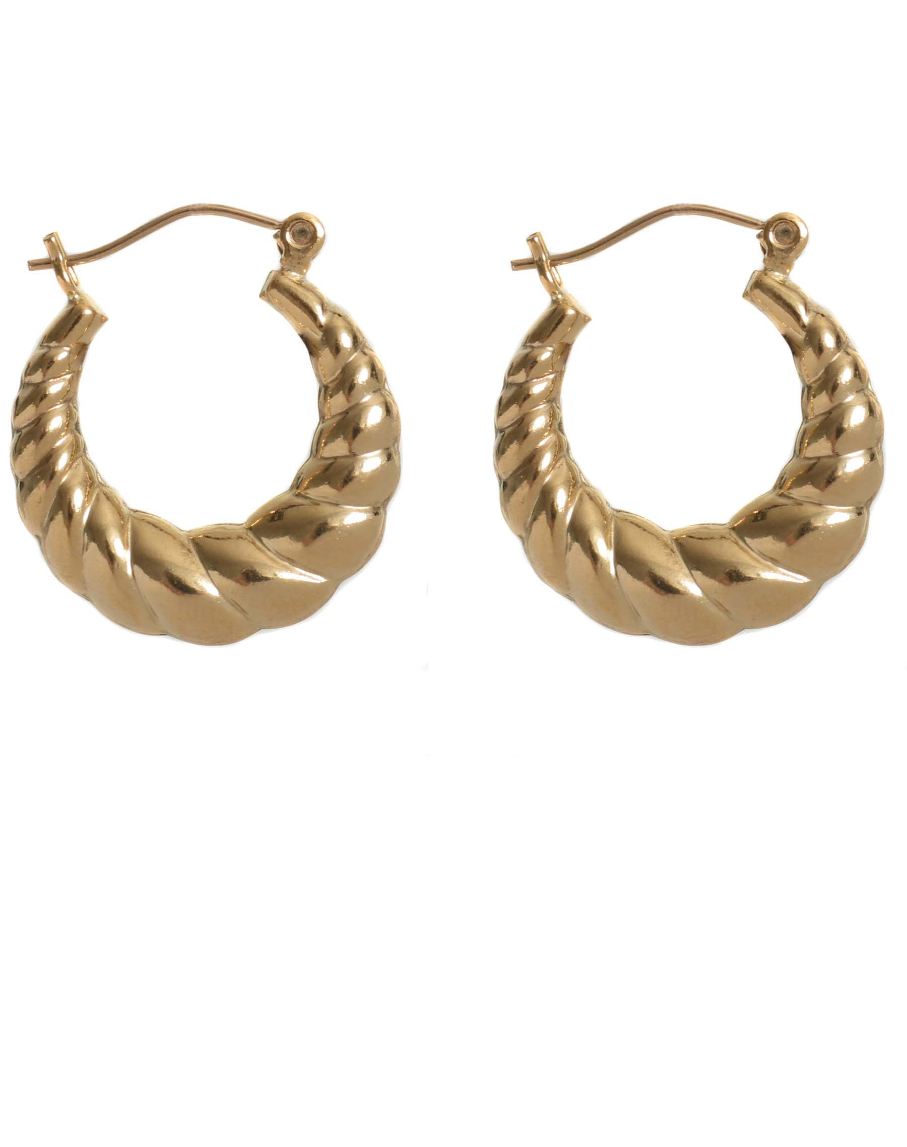 "The ""PIA"" Croissant Hoops 