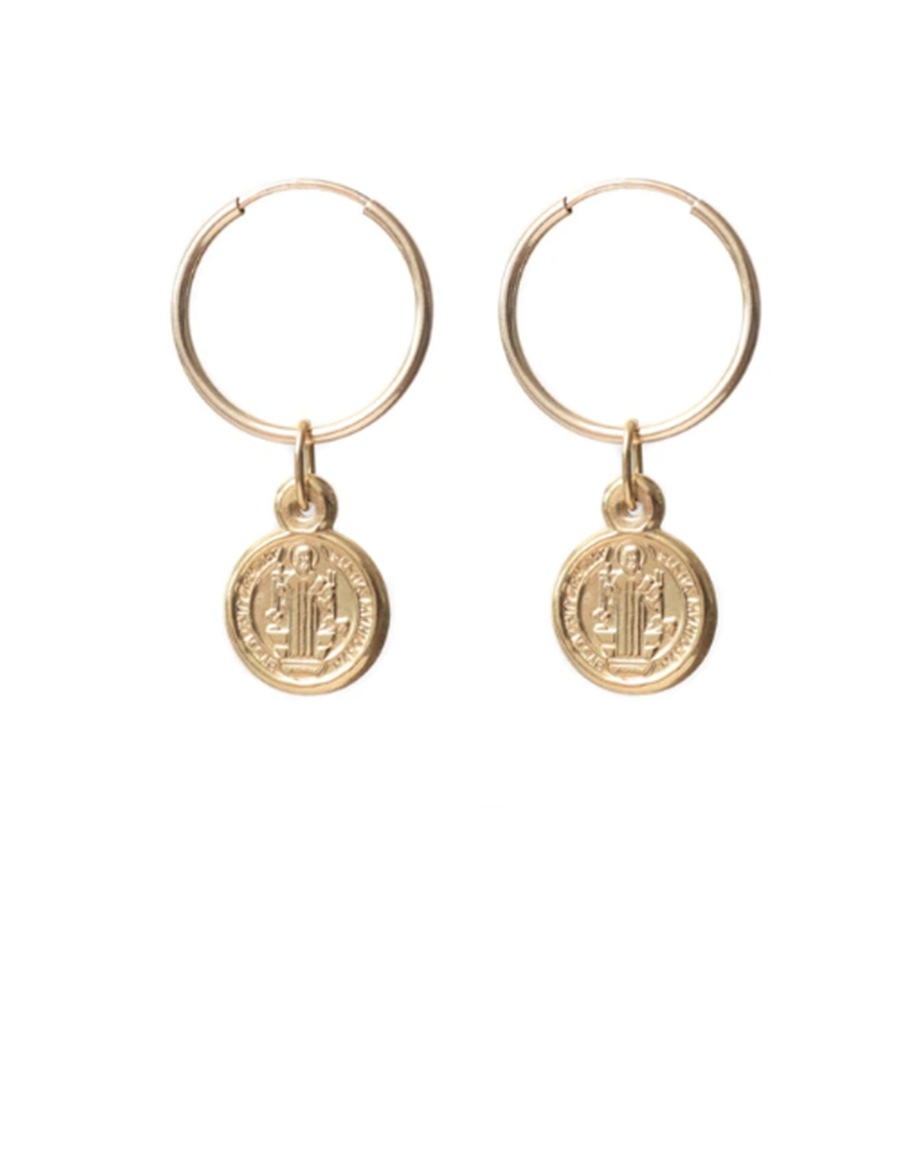 "The ""ROMA"" Charm Hoop Earrings 