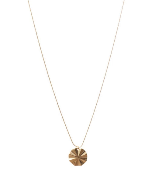 Image of the Mila necklace in gold by Lisbeth.