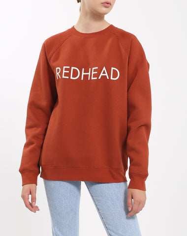 "The ""REDHEAD"" Big Sister Crew Neck Sweatshirt 