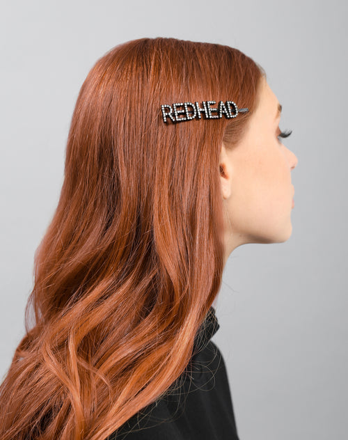The Redhead Hair Clip in crystal by Brunette the Label.