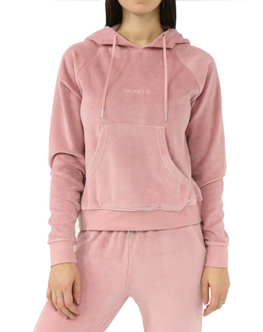 The BRUNETTE Raw Edge Hoodie | DUSTY ROSE