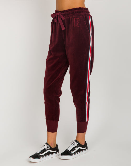 The Embroidered Velour Joggers