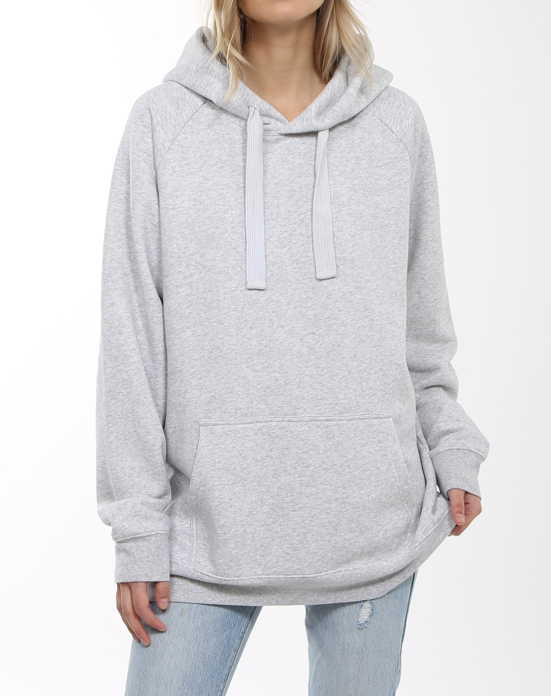 Photo 3 of the Babes Supporting Babes big sister hoodie in pebble grey by Brunette the Label.