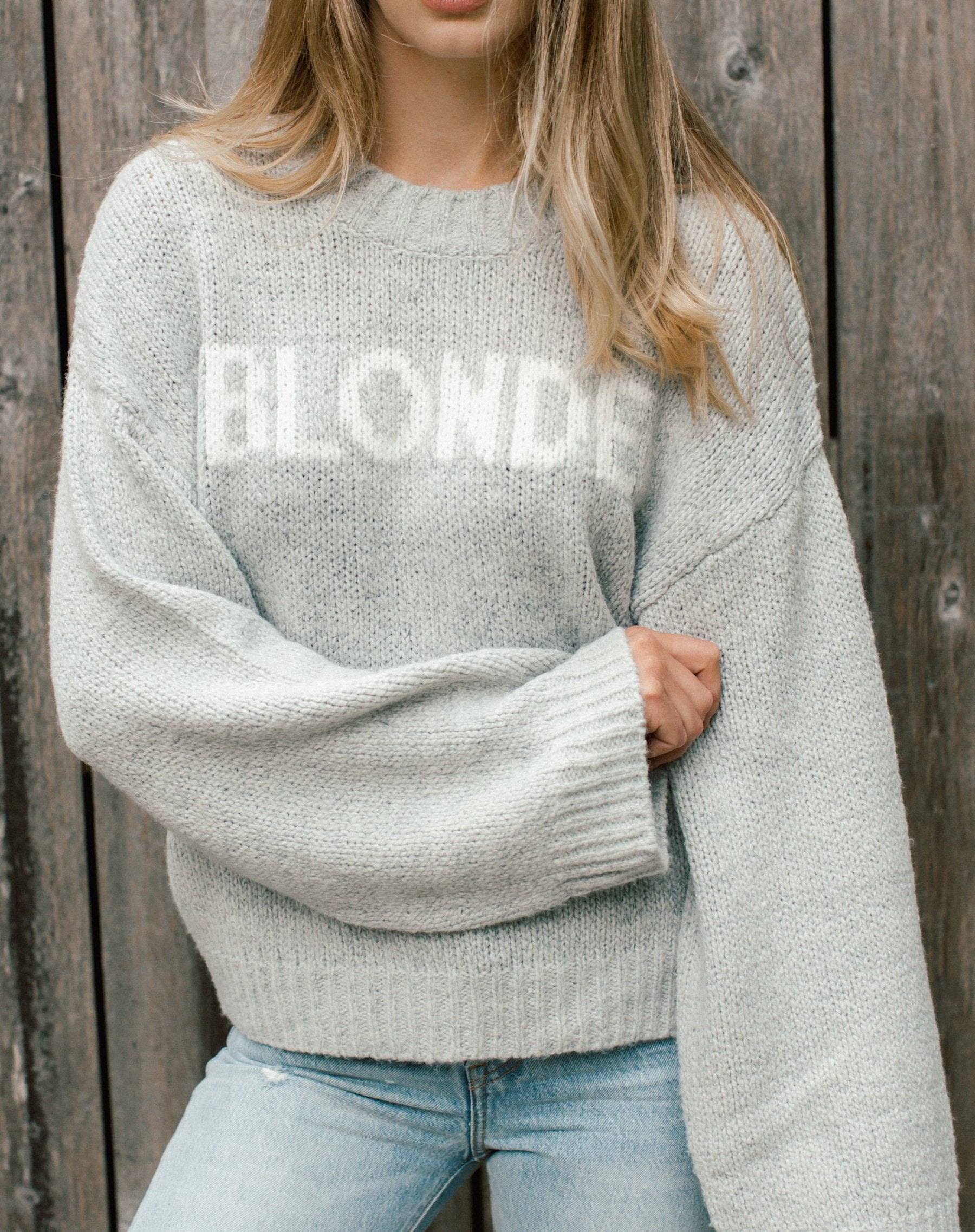 "The ""BLONDE"" Knit Sweater 